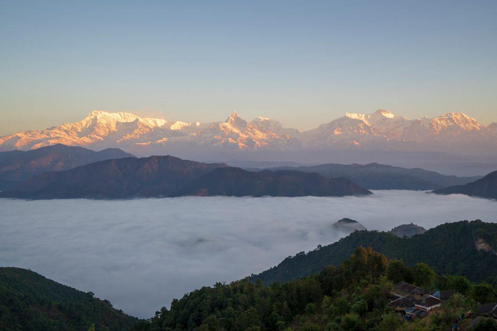 Annapurna range from millennium trek